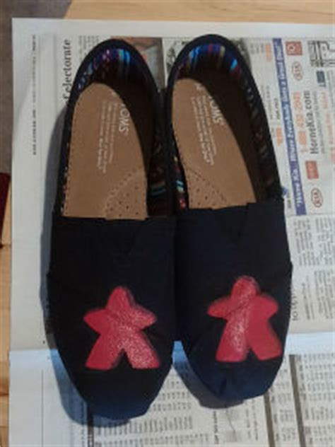 Toms Shoes Meme - painting meeples on shoes