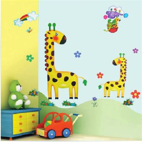 removable wall stickers for rooms buy removable giraffe wall sticker children room