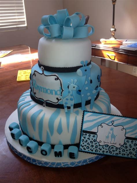 Boy Giraffe Baby Shower by Baby Shower Giraffe Theme Cakecentral