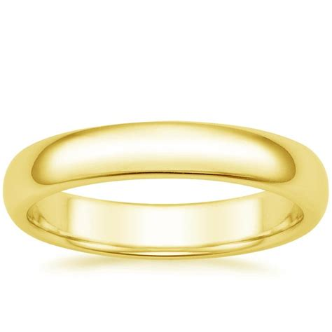 comfort rings 4mm comfort fit men s wedding ring in 14k yellow gold