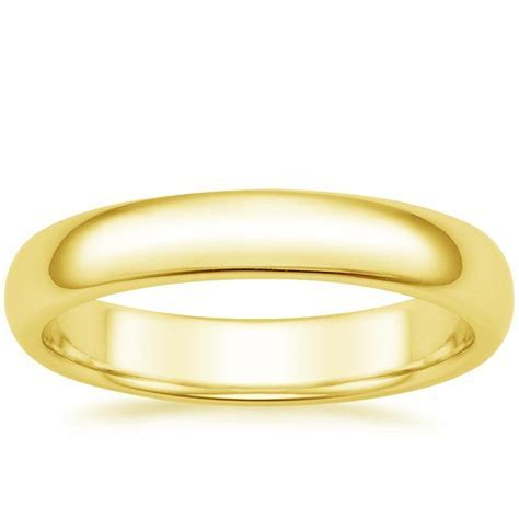 4mm Comfort Fit Wedding Ring in 14K Yellow Gold