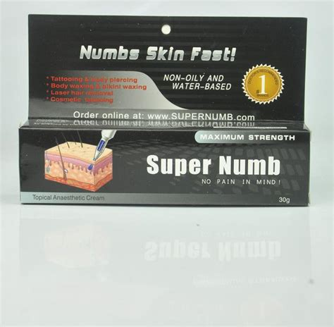 super numb tattoo cream directions 30g super numb anaesthetic numbs skin fast cream pain