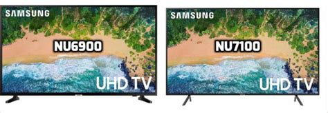 samsung nu6900 vs nu7100 what are their differences un43nu6900 vs un43nu7100 un50nu6900 vs