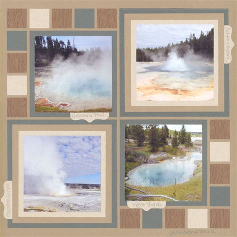 Miller Works The Earth Tones by 7 Scrapbook Layouts With Mostly Square Patterns Bebe
