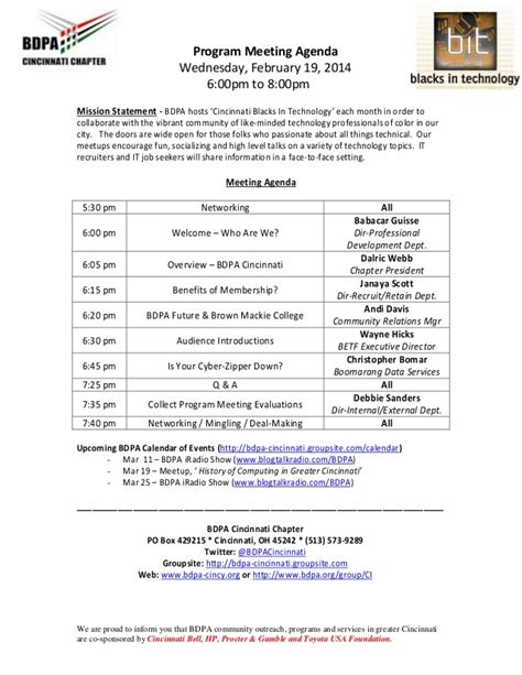 programme template for conference agenda program meeting sle