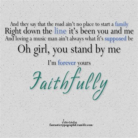 Wedding Quotes S Journey by My Wedding Song Journey Faithfully Quotes Lyrics