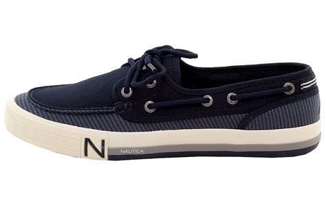 boat shoes nautica nautica men s spinnaker ii 2 eyelet canvas boat shoes
