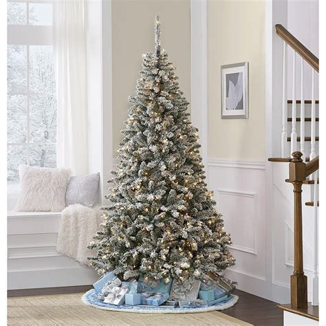 menards colorado flocked pine 7 colorado flocked pine tree kmart things i like tree and