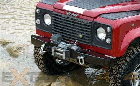 land rover defender bumpers land rover defender 90 td5 sw winch bumper land rovers