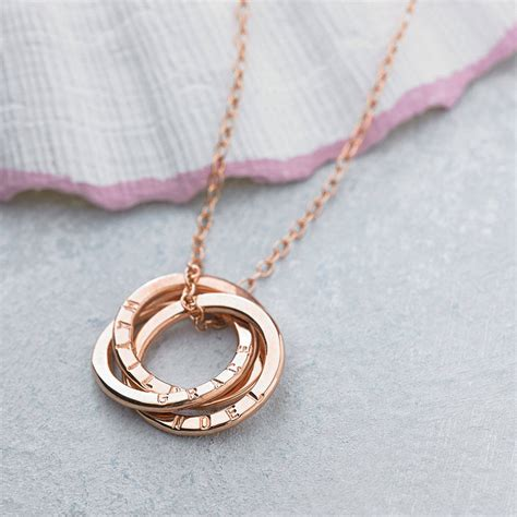 Handmade Personalised Jewellery - personalised russian ring necklace by posh totty designs