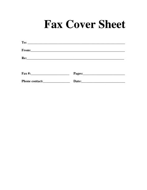 page template sle simple fax cover pages sles and templates