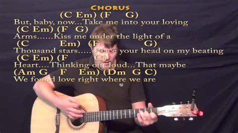 ed sheeran we found love chords thinking out loud ed sheeran strum guitar cover lesson