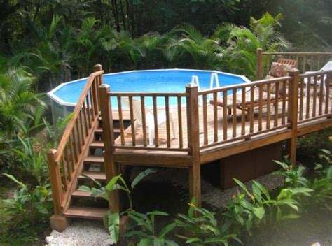 40 Uniquely Awesome Above Ground Pools With Decks Above Ground Swimming Pool Deck Designs