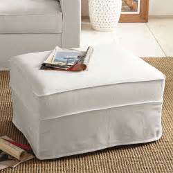 Ottoman Slipcovers Henry Ottoman Slipcover Modern Footstools And Ottomans By West Elm
