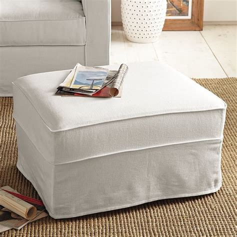 ottoman slipcovers henry ottoman slipcover modern footstools and ottomans