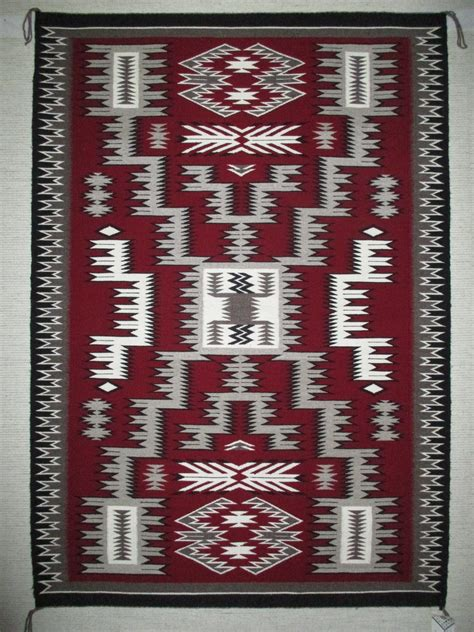 Navajo Rug Design by Pattern Weaving By Marilyn Jim Medium Size Navajo