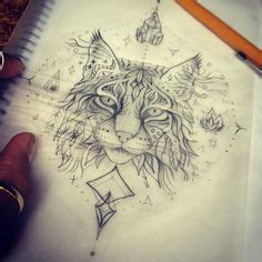 bobcat tattoo designs ornamental lynx highly detailed abstract
