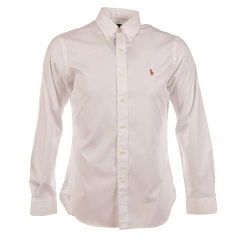 Polo Longsleeves Shirt polo ralph polo ralph slim fit white sleeve shirt from brother2brother uk