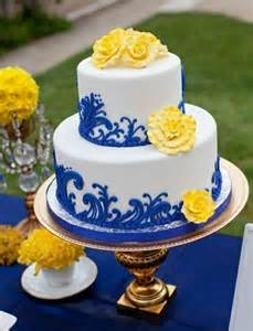 yellow and silver wedding cakes silver and royal blue wedding cakes wedding cakes