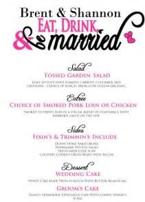 wedding dinner menu template wedding dinner menu exles images