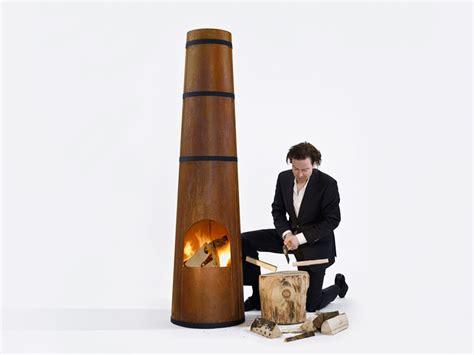 Wood Burning Garden Heater Smokestack Wood Burning Garden Heater By Frederik Roije