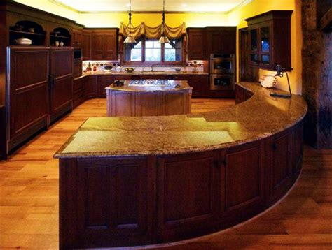 curved kitchen island the curved kitchen island the great combinations between