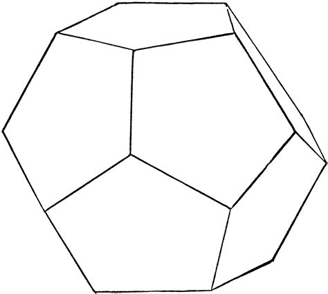 Dodecahedron Template Large Related Keywords - regular dodecahedron clipart etc