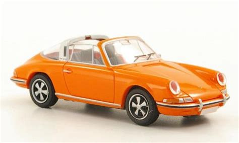 orange porsche targa porsche 911 targa f reihe orange brekina diecast model