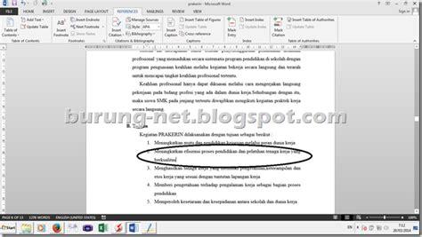 cara membuat jurnal skripsi di ms word cara membuat daftar pustaka otomatis di microsoft word