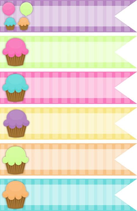 printable ribbon tags 17 best images about cupcake wrapper print on pinterest