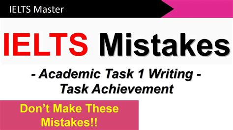 ielts writing task 1 corrections most common mistakes students make and how to avoid them books ielts writing task 1 how to get a high task achievement