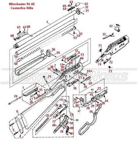 winchester 1894 parts diagram winchester 94 schematic guns winchester