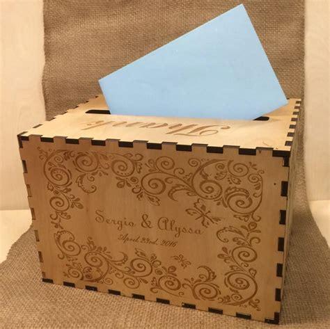wedding box wood wedding card box custom card box rustic wood card holder