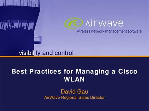 best practices for cisco wlan management
