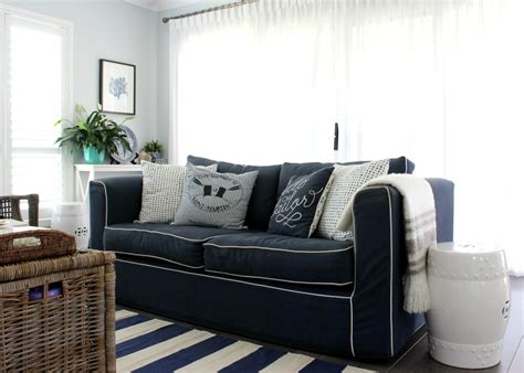 Nautical Style Living Room by A Nautical Style Living Room Diy Decorator