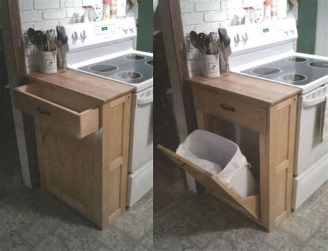 tilt out her cabinet plans kitchen trash can cabinet plans home design idea