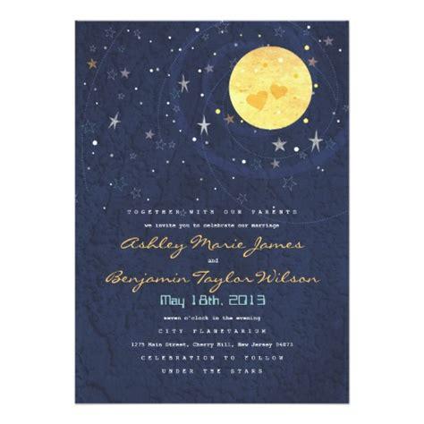 moon invitation card template starry moon wedding invitation card