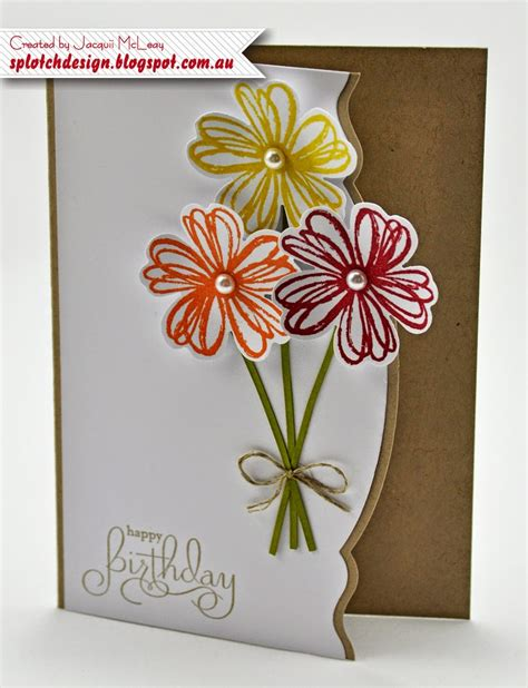 Flowers In A Birthday Card