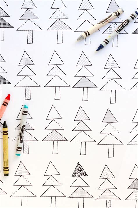 Printable Wrapping Paper To Color | printable coloring sheet gift wrap make