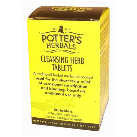 Herbal Detox Cleanse Uk by Potters Potters Cleansing Herbs Tablets Potters From