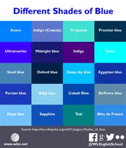 shades of list different shades of blue wles net