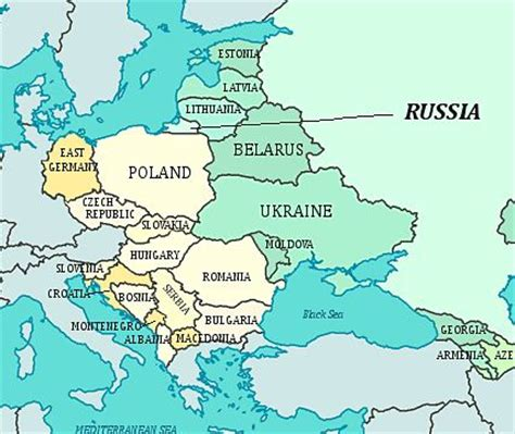 soviet union iron curtain former countries in europe