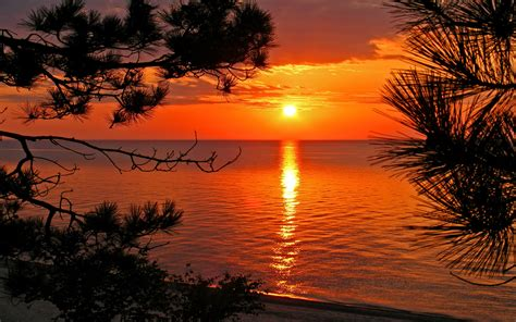 nature landscapes widewallpaper river sunset  nature