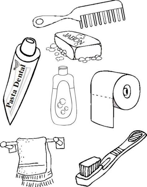 imagenes para colorear utiles de aseo personal 218 tiles de aseo para colorear fichas infantiles y