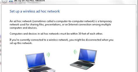 artikel membuat jaringan cara mudah membuat jaringan wifi hotspot adhoc di laptop