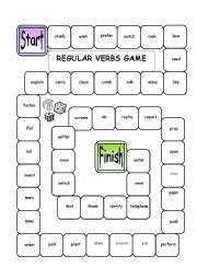 printable verb dice english worksheets boardgame regular verbs with dice