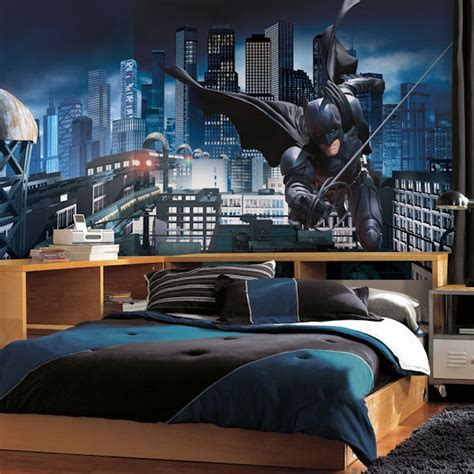batman bedroom wallpaper batman dark knight xl wall mural
