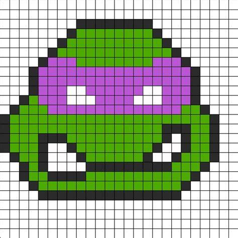 perler bead turtle pattern donatello perler bead pattern bead sprites characters