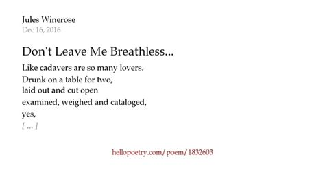 Leave Me Breathless Baby Day 94 by Don T Leave Me Breathless By Dew Hello Poetry