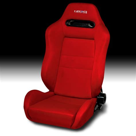 nrg type r style reclineable seat pair